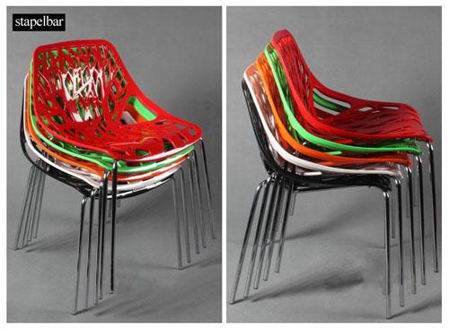 Stuhl designer esszimmerstuhl stapelstuhl st hle plastik for Designer stapelstuhl