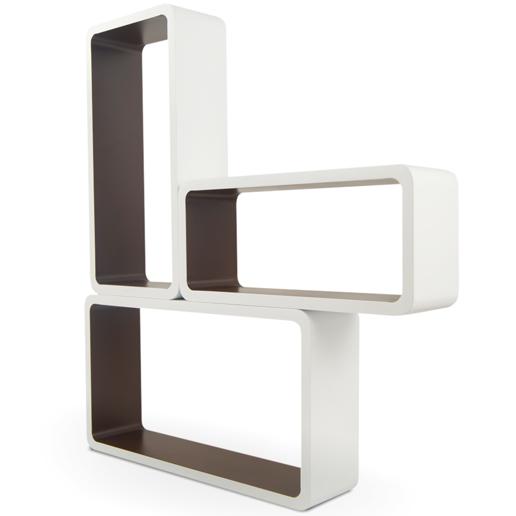 3 tlg regal set cube lounge retro cd dvd m bel regal toro. Black Bedroom Furniture Sets. Home Design Ideas
