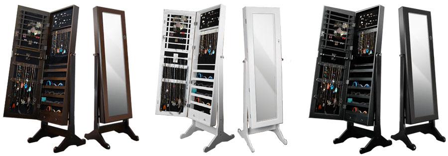 spiegel schmuckschrank schrank schmuck ohrringe ring ringe kette spiegelschrank ebay. Black Bedroom Furniture Sets. Home Design Ideas