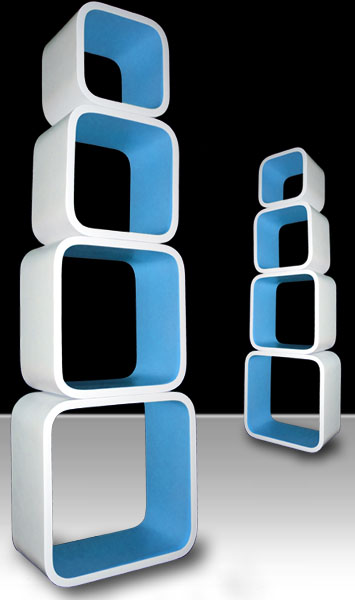 regal set cube lounge retro cd dvd m bel cubes vintage. Black Bedroom Furniture Sets. Home Design Ideas